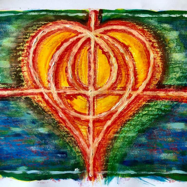 hart, tekening, tattoo
